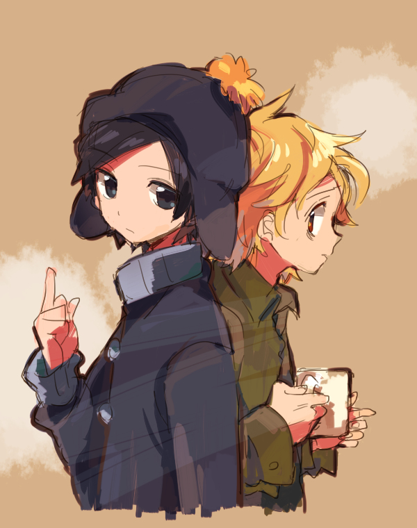 Tags: Anime, Cherudo, South Park, Tweek Tweak, Craig Tucker, Fanart From Pixiv, Pixiv, PNG Conversion, Fanart, Creek (South Park)