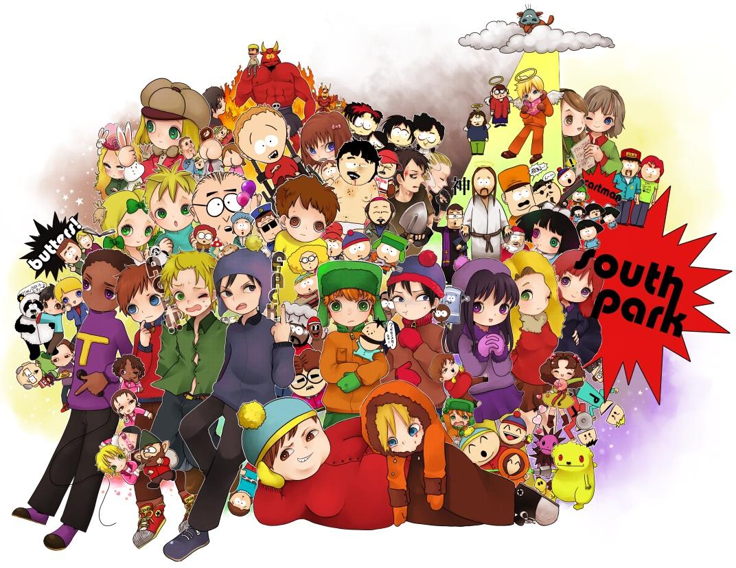 картинки южный парк аниме: