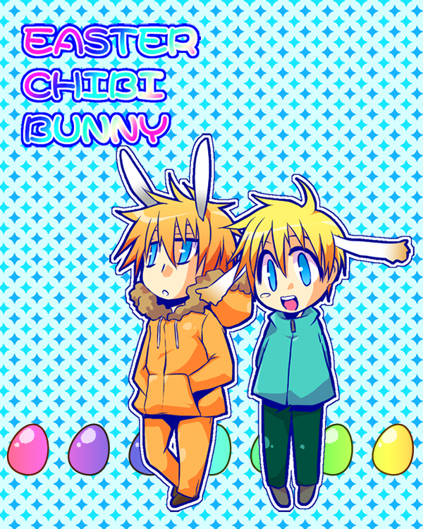 Tags: Anime, Sakurapanda, South Park, Leopold Stotch, Kenneth McCormick, Easter, deviantART