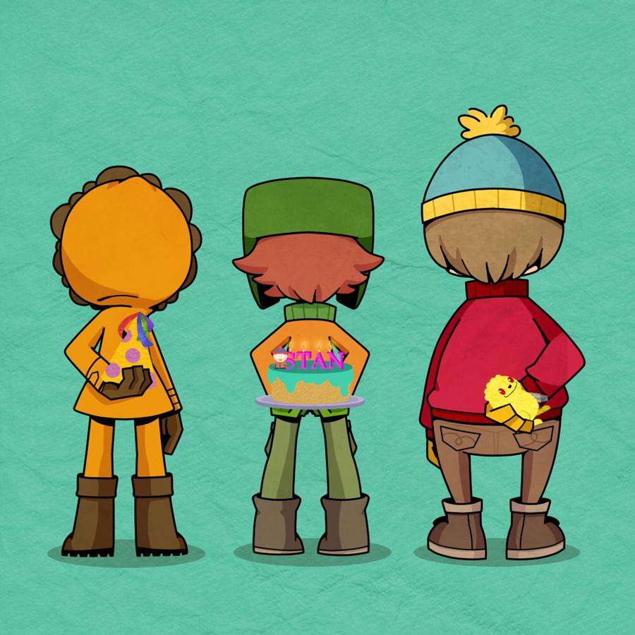 South park cartman and kyle
