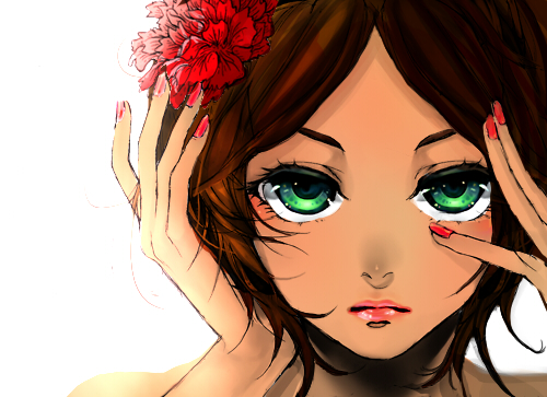 Tags: Anime, SonneDark, Axis Powers: Hetalia, Spain (Female), Beautiful Eyes, Migikata no Chou, deviantART, Fanart From DeviantART, Fanart, Nyotalia
