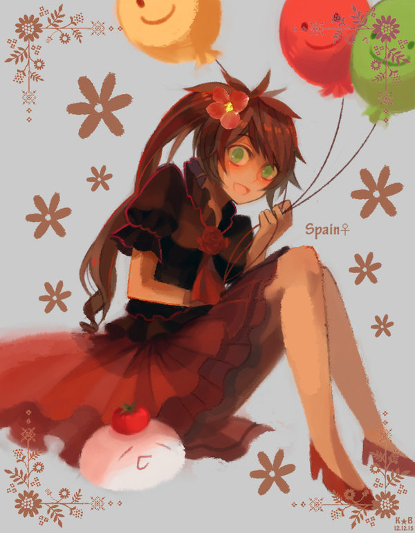 Tags: Anime, Mewchan2, Axis Powers: Hetalia, Spain (Female), Mochi Spain, Asterisk, Fanart From DeviantART, Fanart, Nyotalia, Mochitalia, deviantART