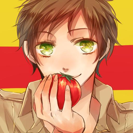 Tags: Anime, Aimu, Axis Powers: Hetalia, Spain, Flag Background, Pixiv, PNG Conversion, Mediterranean Countries