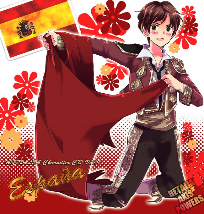 Tags: Anime, Saemi, Axis Powers: Hetalia, Spain, Bull Fighter, Asterisk, Fanart, Pixiv, Mediterranean Countries
