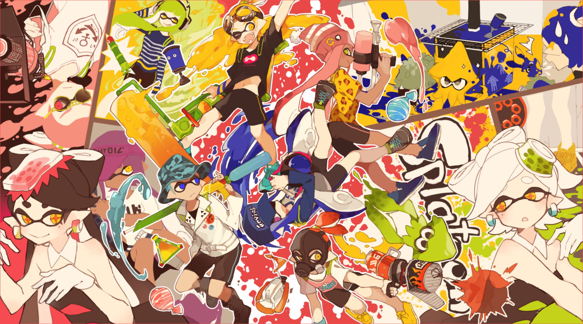 Splatoon wallpaper 1938392 zerochan anime image board - Fanart anime wallpaper ...