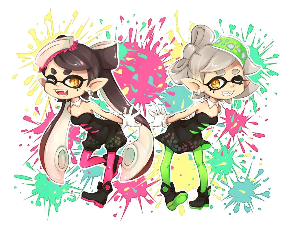 Callie And Marie Wallpaper: Zerochan Anime Image Board
