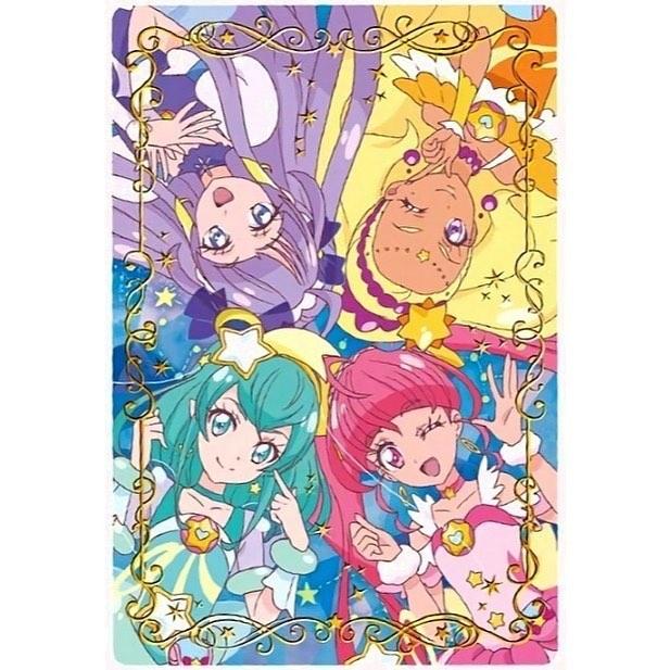 Tags: Anime, Star☆Twinkle Precure, Amamiya Erena, Cure Milky, Hagorumo Lala, Cure Star, Hoshina Hikaru, Cure Selene, Kaguya Madoka, Cure Soleil, Card (Source)