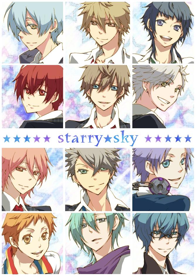 Tags: Anime, Starry☆Sky~, Hoshizuki Kotarou, Nanami Kanata (Starry☆Sky), Amaha Tsubasa, Kanakubo Homare, Tohzuki Suzuya, Iku Mizushima, Shiranui Kazuki, Haruki Naoshi, Tomoe Yoh, Kinose Azusa, Aozora Hayato