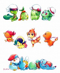 how to get all 3 starters in pokemon fire red