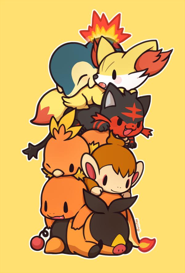 Starter Pokémon Mobile Wallpaper