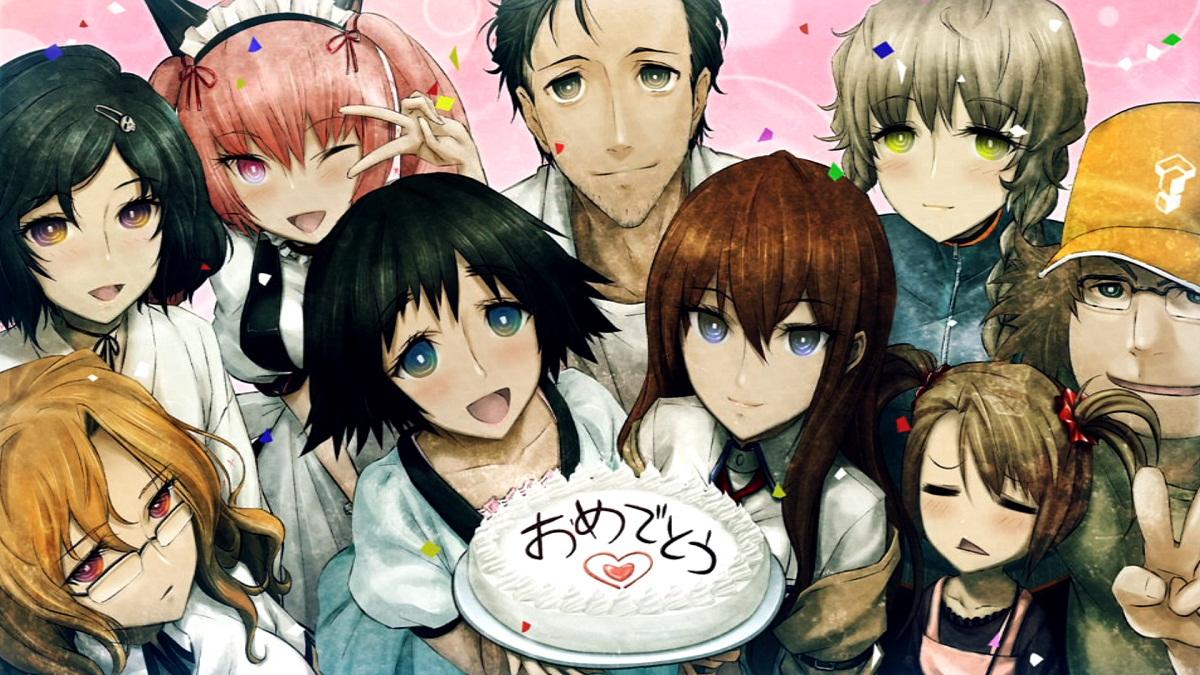 Картинка аниме на день рождения, открытке немецком