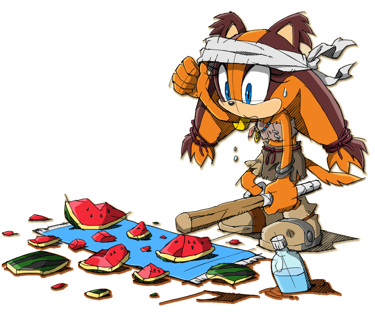 sticks the badger sonic boom zerochan anime image board