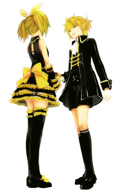Tags: Anime, Lolisamurai, Project DIVA 2nd, VOCALOID, Kagamine Len, Kagamine Rin, Kodona, Story of Evil, Mobile Wallpaper, Kagamine Mirrors