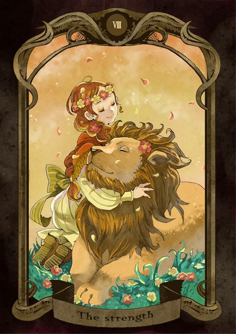 Terrific Strength Tarot Tarot Cards Zerochan Anime Image Board Birthday Cards Printable Opercafe Filternl