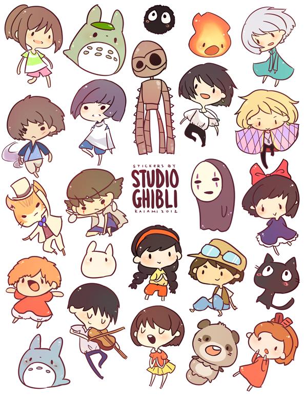 Tags: Anime, Kaiami, Studio Ghibli, Howl no Ugoku Shiro, Tenkuu no Shiro Laputa, Mononoke Hime, Mimi wo Sumaseba (Ghibli)