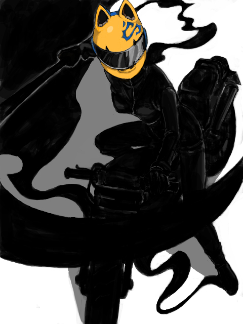Tags: Anime, Pixiv Id 211983, DURARARA!!, Shooter (Durarara!!), Sturluson Celty, Motorcycle Helmet, Pixiv, PNG Conversion, Fanart, Fanart From Pixiv