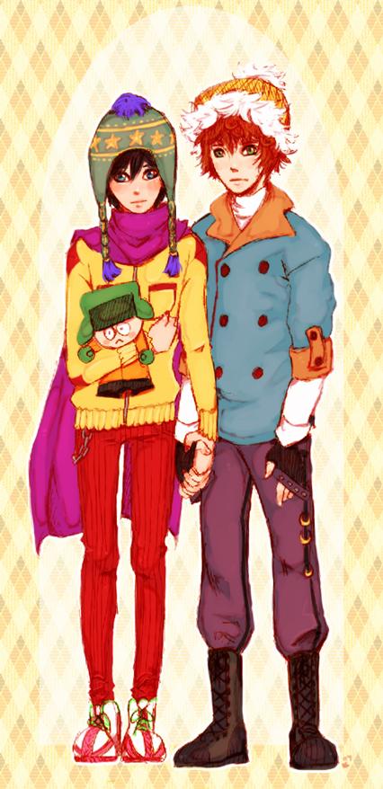 Tags: Anime, South Park, Kyle Broflovski, Stanley Randall Marsh, Artist Request, Style (South Park)