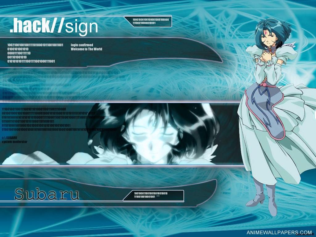 Hack Sign Wallpaper Zerochan Anime Image Board