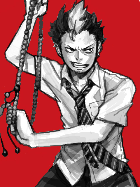 Tags: Anime, Ypyp, Ao no Exorcist, Suguro Ryuji, Sketch, PNG Conversion