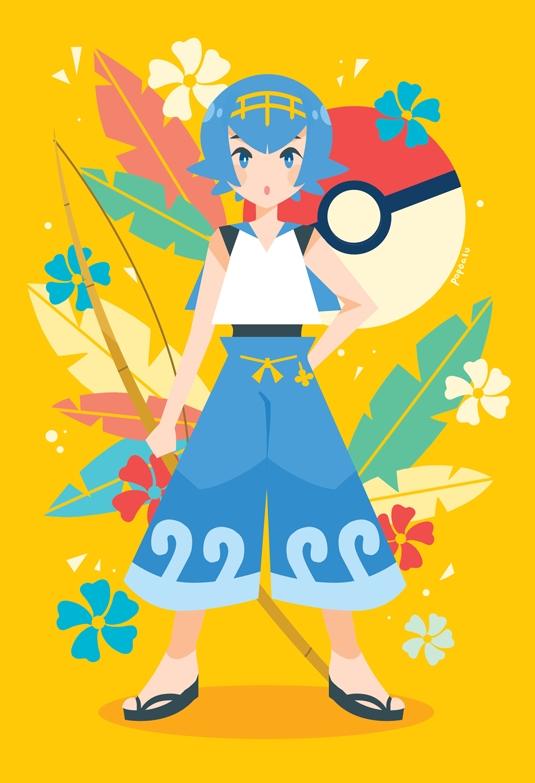 Tags: Anime, Rainingcats, Pokémon Sun & Moon, Pokémon, Suiren (Pokémon), Tumblr, PNG Conversion, Mobile Wallpaper, Fanart