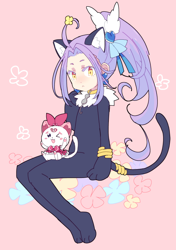 Tags: Anime, Pixiv Id 17226440, Suite Precure♪, Hummy, Kurokawa Eren, Cure Beat, Cat Costume, Cure Melody (Cosplay), Fanart From Pixiv, Pixiv, Fanart