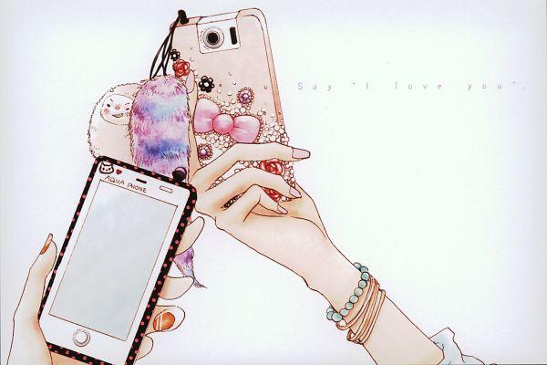 Tags: Anime, Hazuki Kanae, Suki-tte Ii na yo., Phone, Cellphone, Key Chains, Hands