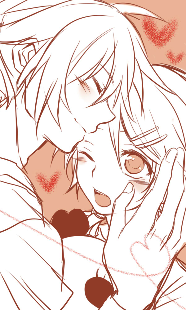 Tags: Anime, Teito, VOCALOID, Kagamine Len, Kagamine Rin, Pixiv, Mobile Wallpaper, Suki Kirai, Fanart, Kagamine Mirrors, Like Dislike