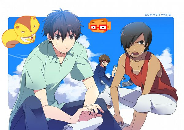 Tags: Anime, Computer, Laptop, Summer Wars, Koiso Kenji, Ikezawa Kazuma, Paper