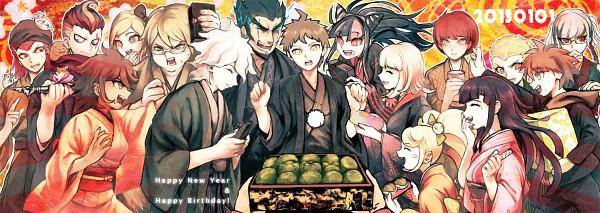 Tags: Anime, Pixiv Id 5146830, Super Danganronpa 2, Souda Kazuichi, Hinata Hajime, Saionji Hiyoko, Komaeda Nagito