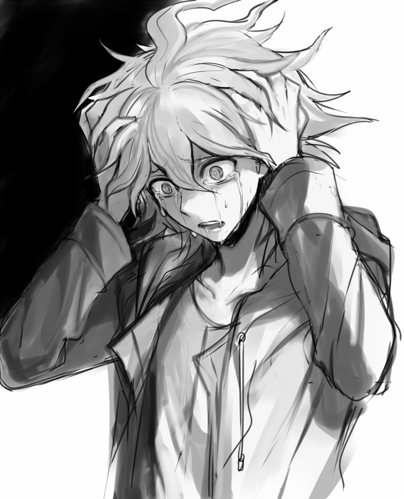 Tags: Anime, Harano, Super Danganronpa 2, Komaeda Nagito, D:>, Sketch