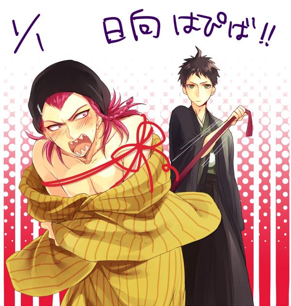 Tags: Anime, Shinri Mitsuba, Super Danganronpa 2, Hinata Hajime, Souda Kazuichi, Pixiv, Fanart, Fanart From Pixiv
