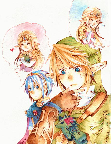 Tags: Anime, Nintendo, The Legend of Zelda, Pixiv, Traditional Media