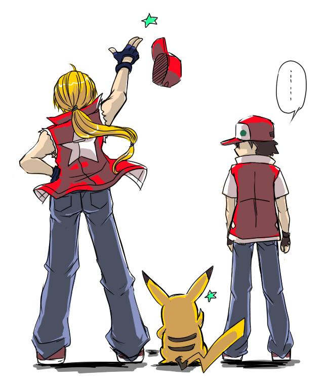 Tags: Anime, Nintendo, Fatal Fury, Super Smash Bros., Pokémon, Red (Pokémon), Pikachu, Terry Bogard