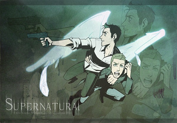 the gallery for gt supernatural castiel with wings anime
