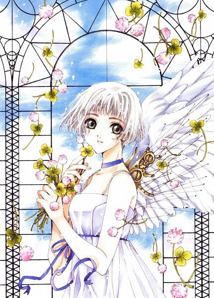 Tags: Anime, CLAMP, CLOVER (Series), CLAMP North Side, Suu (CLOVER), Window, Mechanical Wings