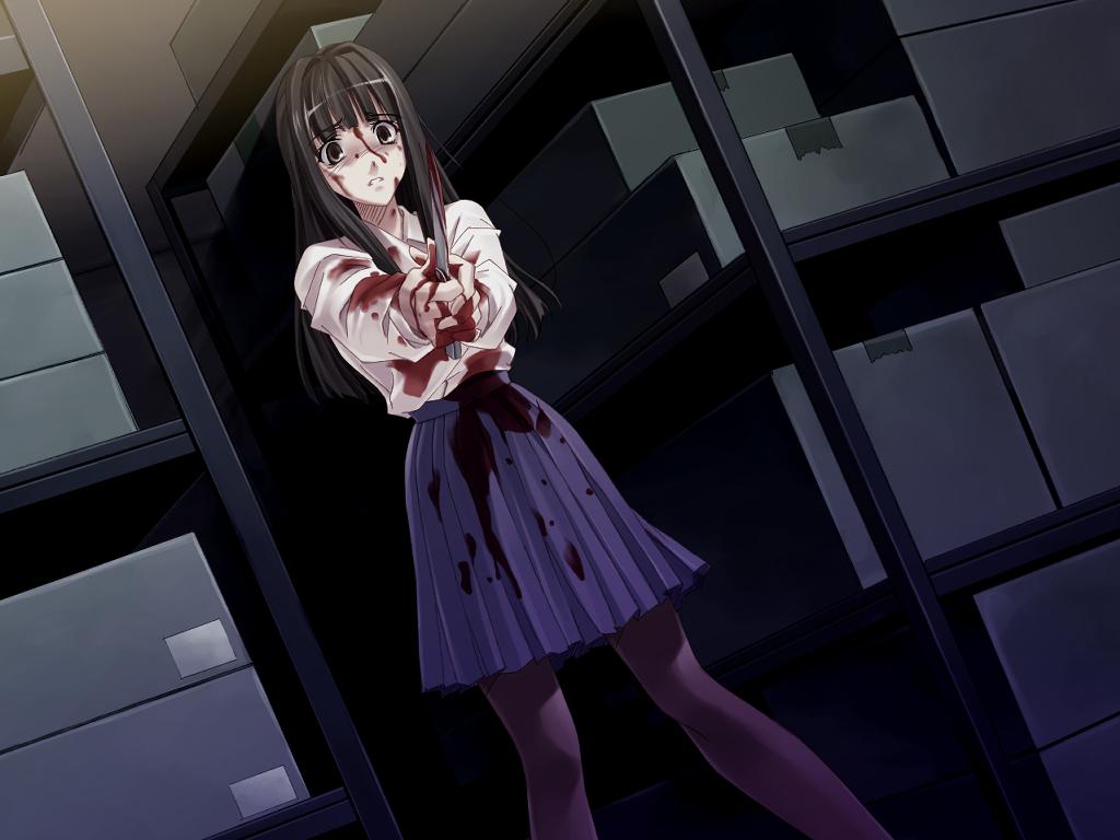 Фото аниме девушки с ножом