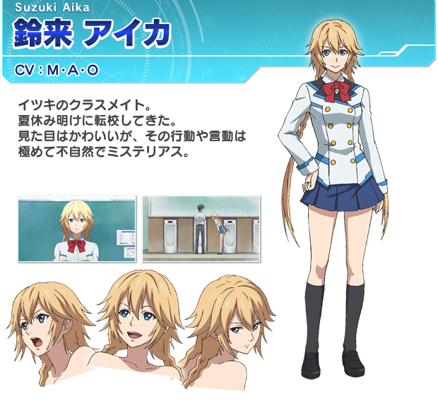 Tags: Anime, Takasu Minoko, Telecom Animation Film, Phantasy Star Online 2 The Animation, Suzuki Aika, Cover Image, PNG Conversion, Official Art, Expression Chart