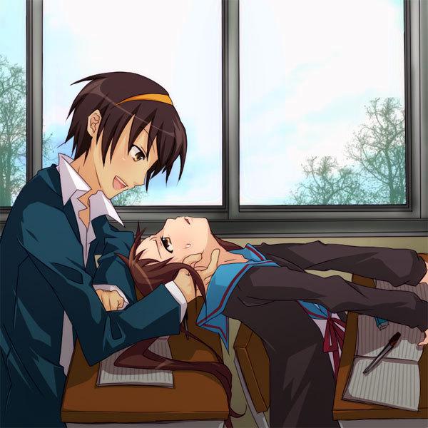 Tags: Anime, Suzumiya Haruhi no Yuuutsu, Kyon, Suzumiya Haruhi
