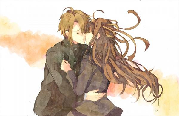 Tags: Anime, Pixiv Id 467563, Suzumiya Haruhi no Yuuutsu, Suzumiya Haruhi, Koizumi Itsuki, Almost Kiss