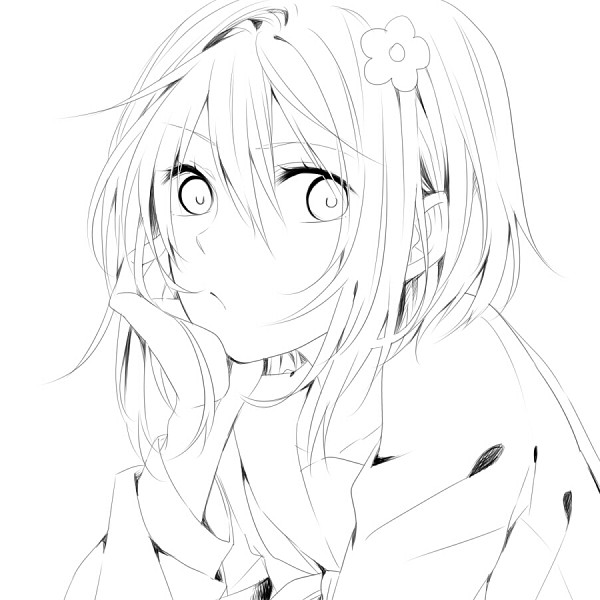 Zerochan Lineart : Suzushina yuriko image zerochan anime board