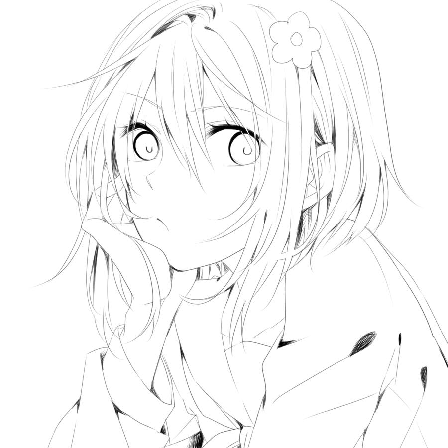 Line Art Creator : Anime girl line art generator hot girls wallpaper