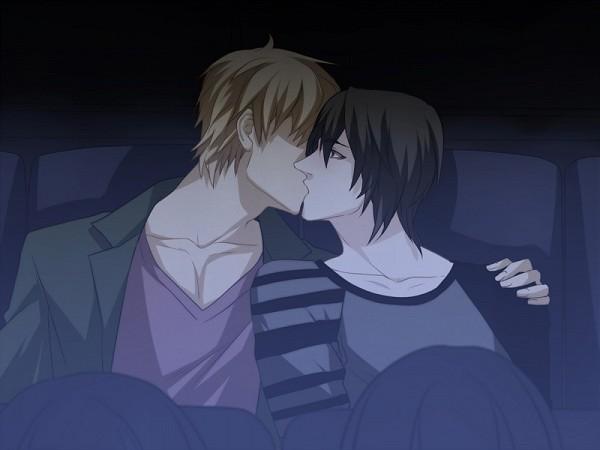 Tags: Anime, Yuki-k, Sweet Pool, Shironuma Tetsuo, Sakiyama Youji, Kiss On The Lips, 800x600 Wallpaper