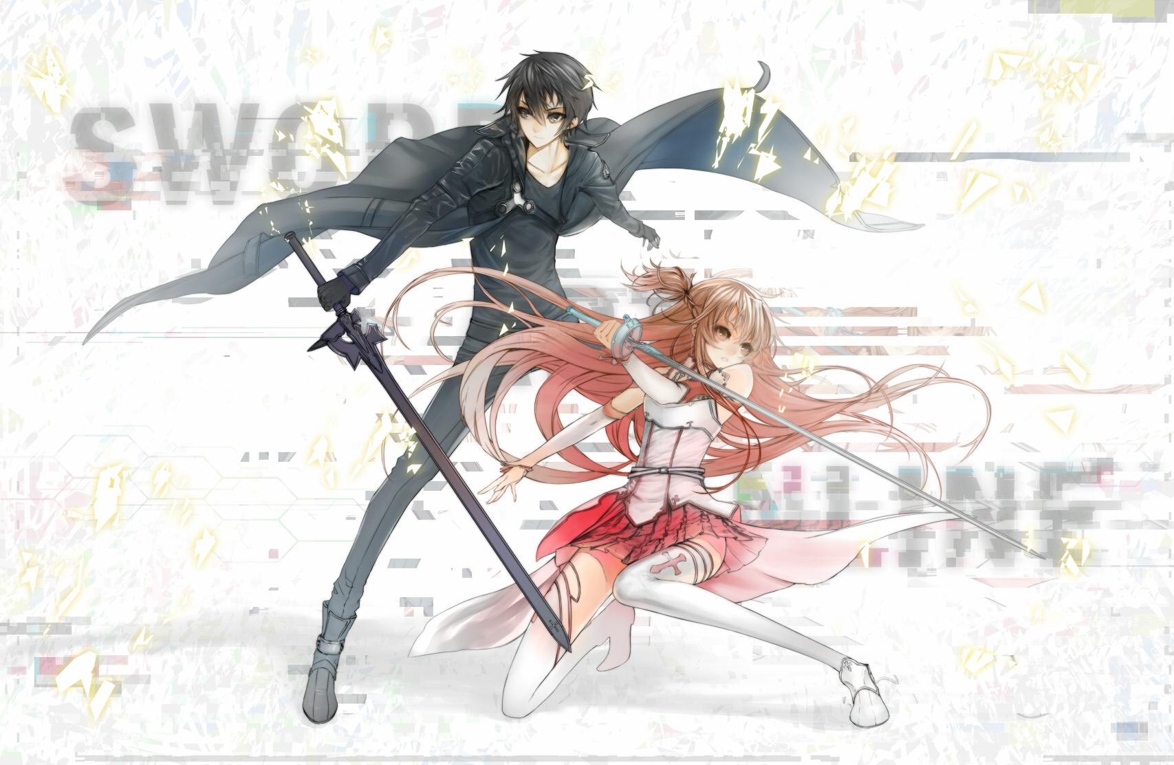 Anime minevi sword art online kirigaya kazuto yuuki asuna rapier