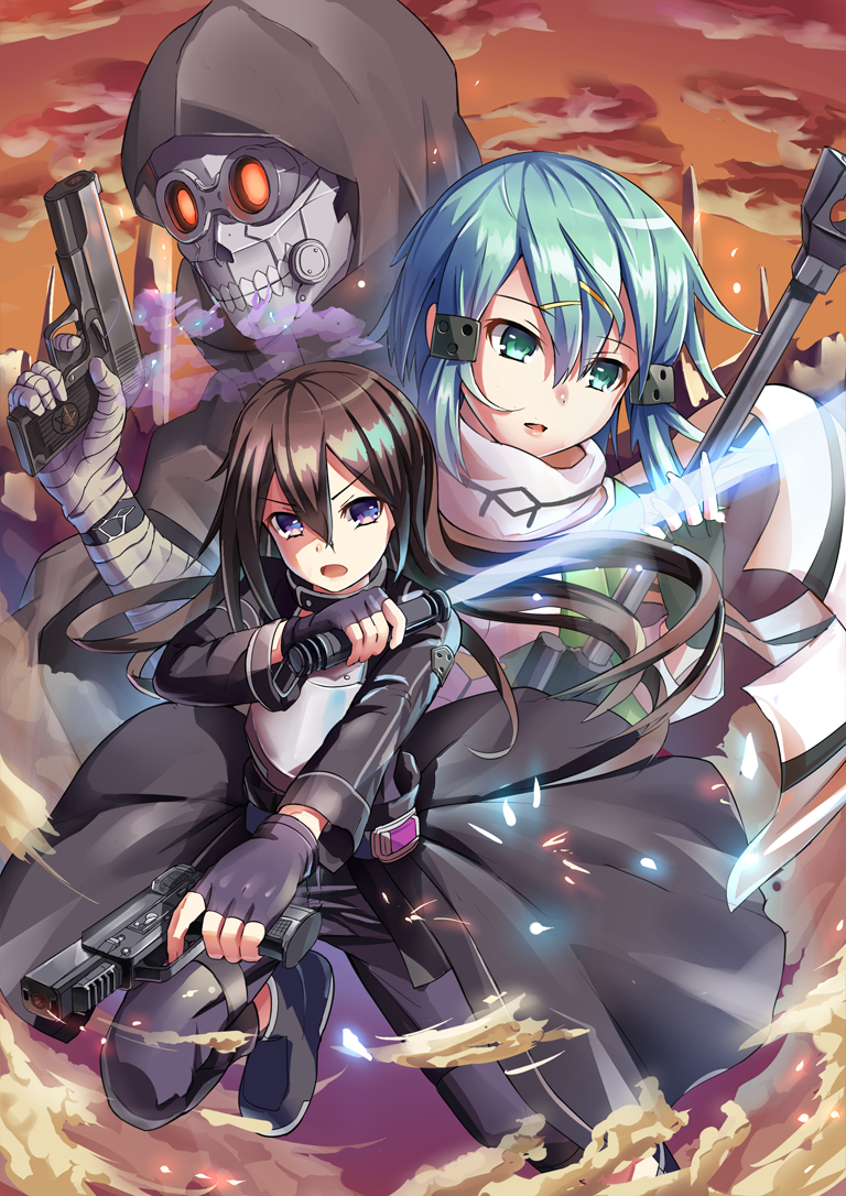 Sinon Ggo Mobile Wallpaper Zerochan Anime Image Board