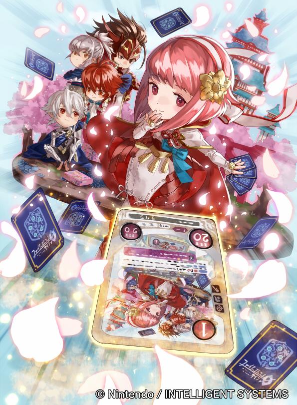 Tags: Anime, Mayo (Pixiv1070145), TCG Fire Emblem 0, Fire Emblem If, Takumi (Fire Emblem), Sakura (Fire Emblem), Hinoka (Fire Emblem), Kamui (Male) (Fire Emblem), Ryoma (Fire Emblem), Official Card Illustration, Official Art