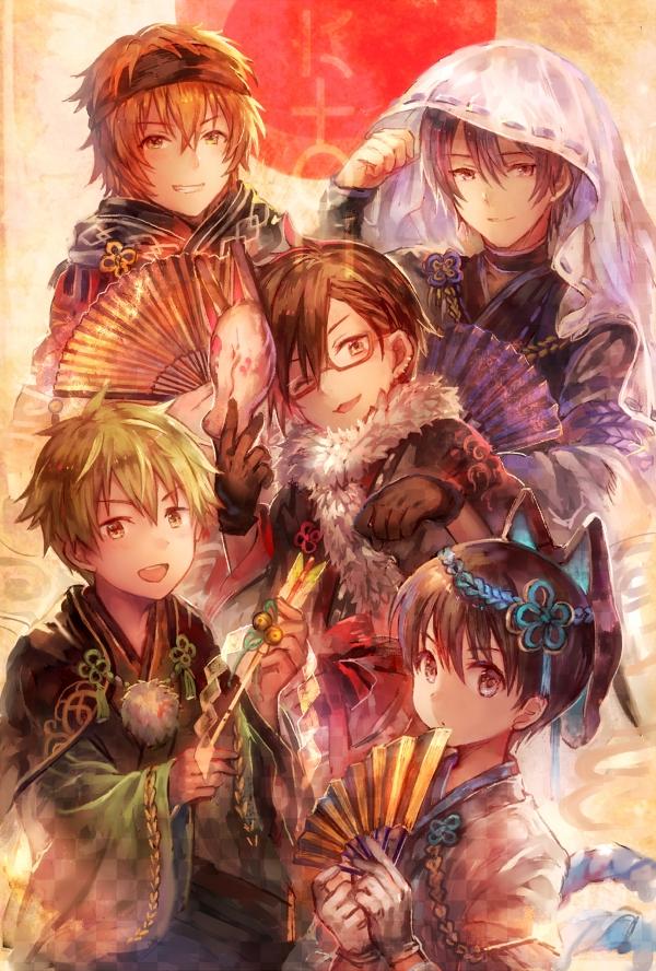 Tags: Anime, Salay, THE iDOLM@STER: SideM, Wakazato Haruna, Iseya Shiki, Akiyama Hayato, Sakaki Natsuki, Fuyumi Jun, Fanart, Mobile Wallpaper, Twitter