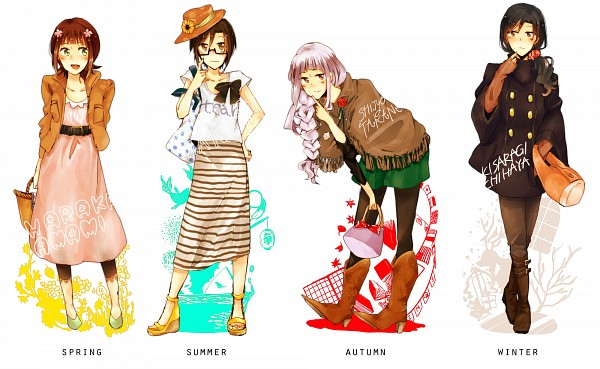 Tags: Anime, Pixiv Id 3392694, Namco, THE iDOLM@STER, Amami Haruka, Shijou Takane, Kisaragi Chihaya