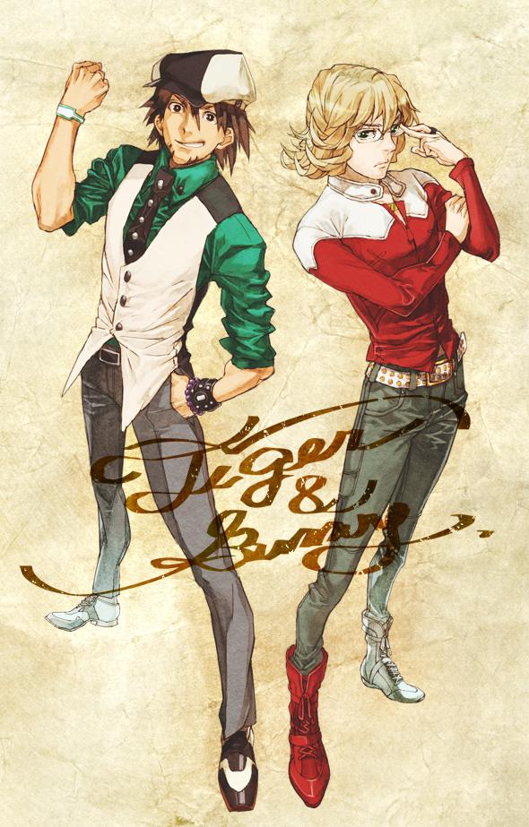 Tags: Anime, Pixiv Id 37411, TIGER & BUNNY, Barnaby Brooks Jr., Kaburagi T. Kotetsu, Pixiv, Fanart