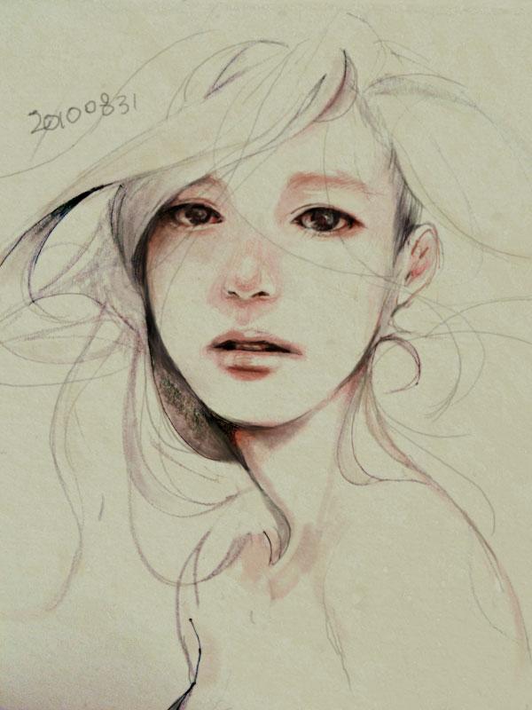 Tags: Anime, Tae4021, Original, Sketch, Pixiv