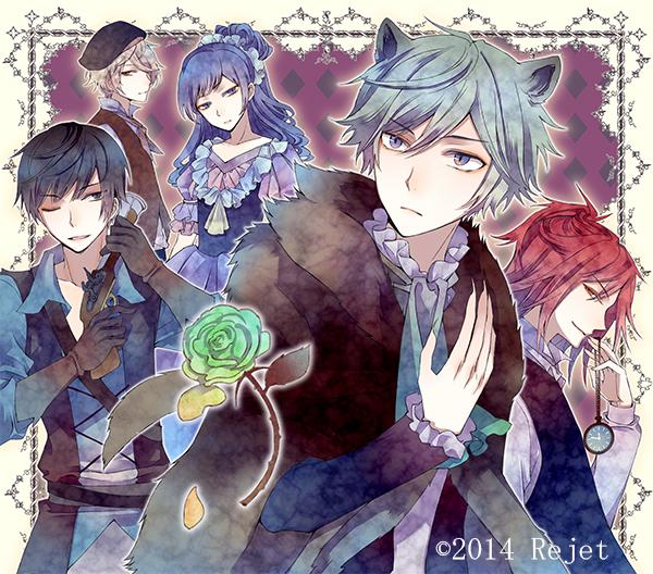 Tags: Anime, Kuroyuki, Rejet, Taishou Guuzou Roman: Teikoku Star, Seishiro (Taishou Guuzou Roman), Rei (Taishou Guuzou Roman), Fuji (Taishou Guuzou Roman), Sanji (Taishou Guuzou Roman), Isao (Taishou Guuzou Roman), Pocket Watch, Official Art